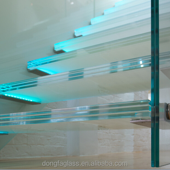 Extra clear Sentryglas/SGP laminated glass staircase