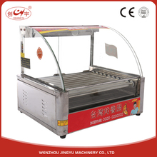 Chuangyu Alibaba Best Sellers 10 Roller 1.5kw Snacks Cooker Hot Dog Machine With Bun Warmer For Sale