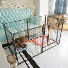 6 panels large folding metal safe pet dog run fences enclosure