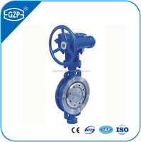 Material ductile iron or carbon steel or stainless steel304 Butt-weld wafer type metal sealing butterfly valve with full size