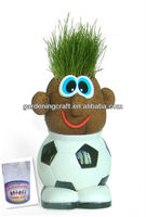 DIY Craft Mini Plant Mr Grass Head for Promotional Business Gifts