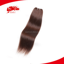 ALI Queen Wholesale Brown Color Beauty Virgin Straight Indian Hair Weft For Vendors