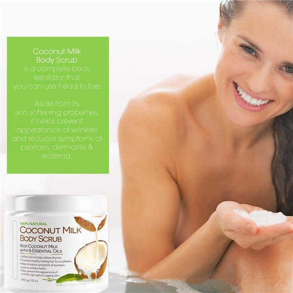 Pure Coconut Milk Body Scrub Whitening Exfoliating Scrub