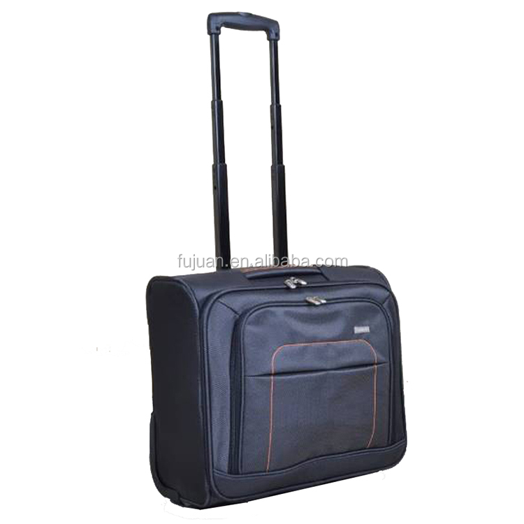 Popular nylon 16inch business luggage laptop trolley bags