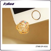 2015 Rose Gold Hollow Flower Phone accessories Mobile Phone Anti Dust Plug