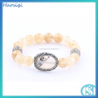 stone bracelet wholesale jewelry fashion women wrist bangle watch custom charm bead bracelet