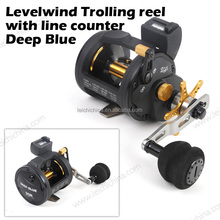 3+1BB Levelwind Fishing Trolling Reel with line counter