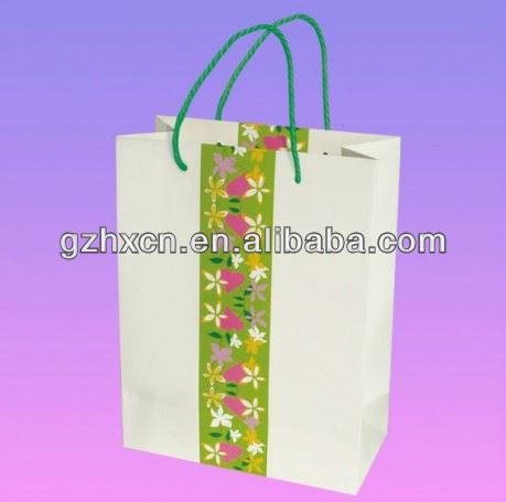 Unique party favors paper bag with personalized logo