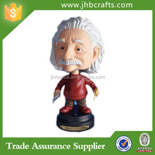 Personalized made resin einstein bobble head