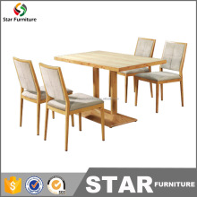 Fresh restaurant furniture sets used restaurant dining table and chair for sales