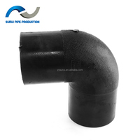 HDPE pipe fittings 90 degree hdpe elbow
