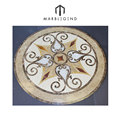 Decoration for table top decor waterjet medallion and ribbon