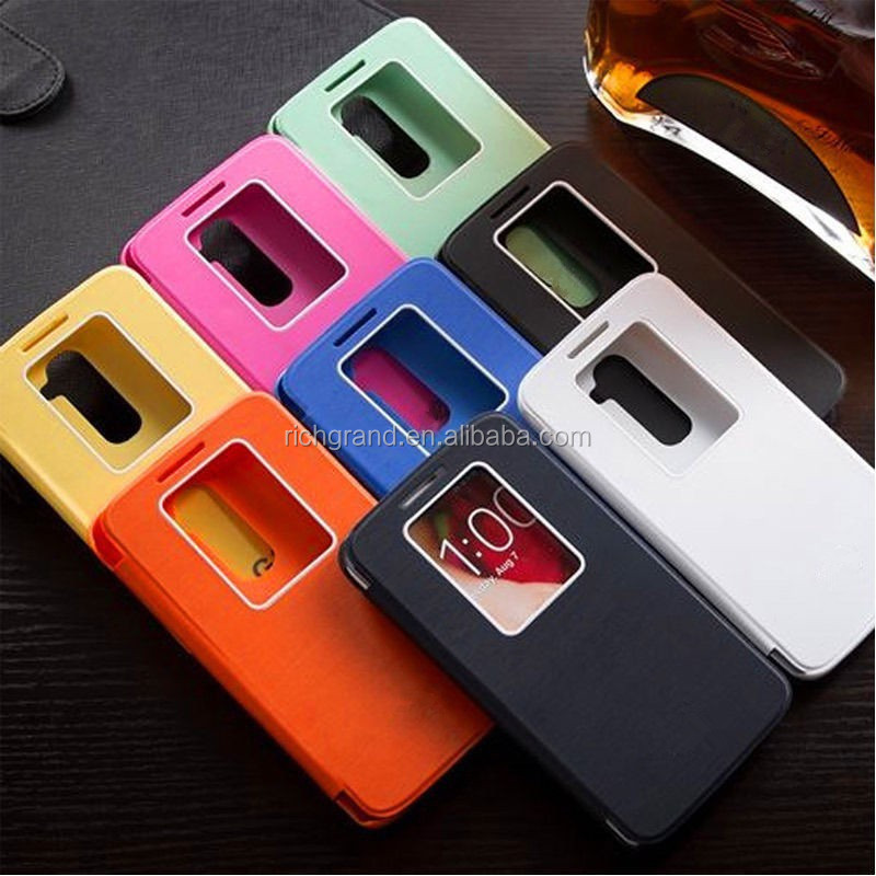 Fashion window view flip case cover for LG Optimus G2 D802