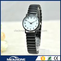make your logo alloy case & metal strap wrist watch