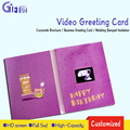 Promotional lcd screen video brochure greeting card 4.3inch Video Greeting Card