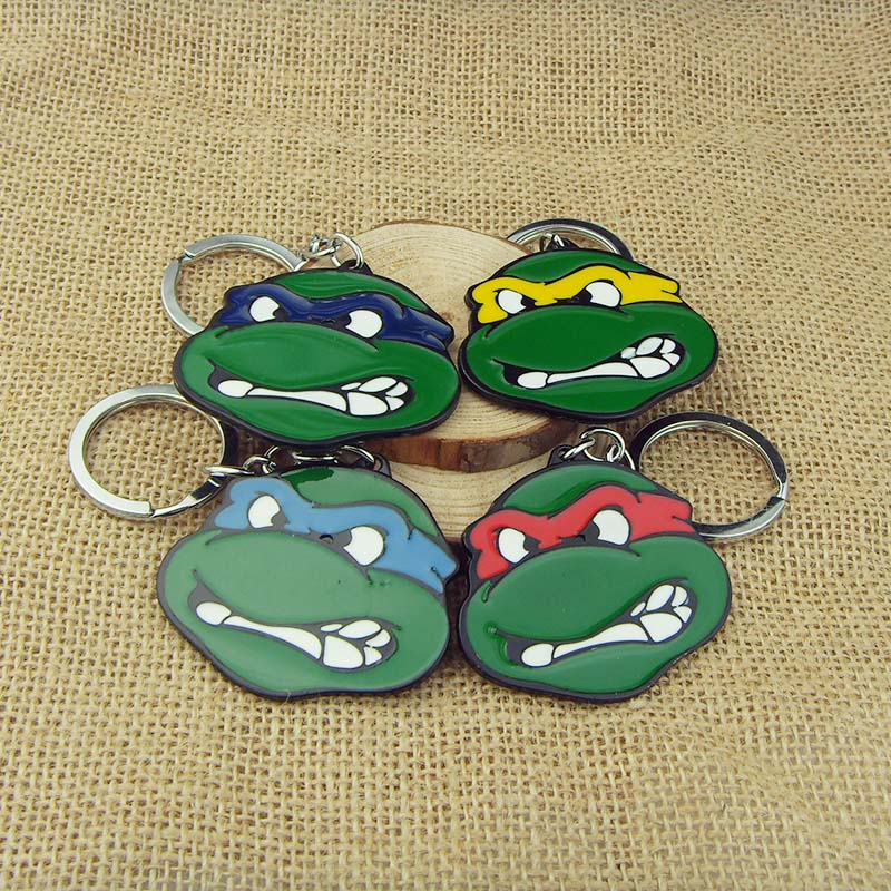 4 Colors Teenage Mutant Ninja Turtles Keychains for <strong>keys</strong>,Movie Jewelry figures <strong>Key</strong> chains K-312