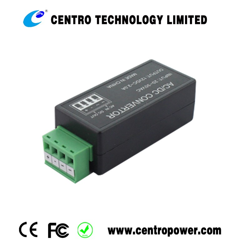 Hot sale! cctv accessories 1500mA voltage converter 24VAC to 12VDC