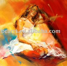 beautiful girl sex picture,Art hand painted decorative wall impressions on canvas painting Art Deco Figure