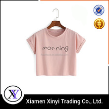 Factory Price Custom Extra Small Size fashion cheap womens fitted t-shirts