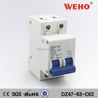 2P C type 240V/415V 50HZ/60HZ Solar PV System 63amp DC MCB Miniature Circuit breaker