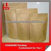 Doypack Stand Up Kraft Paper Bag With Zipper