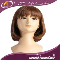 Qingdao famous hair products factory short human hair wigs for black women