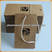 Private label manufacturers production clothing hang tags
