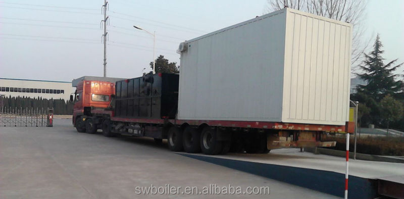 Shandong YLW-8200KW Horizontal Chain Grate palm shell Fired Thermal Oil Boiler