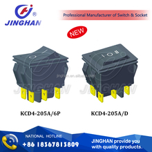 KCD4-205A O I mark switch/ KCD4 series switch/ dpdt rocker switch