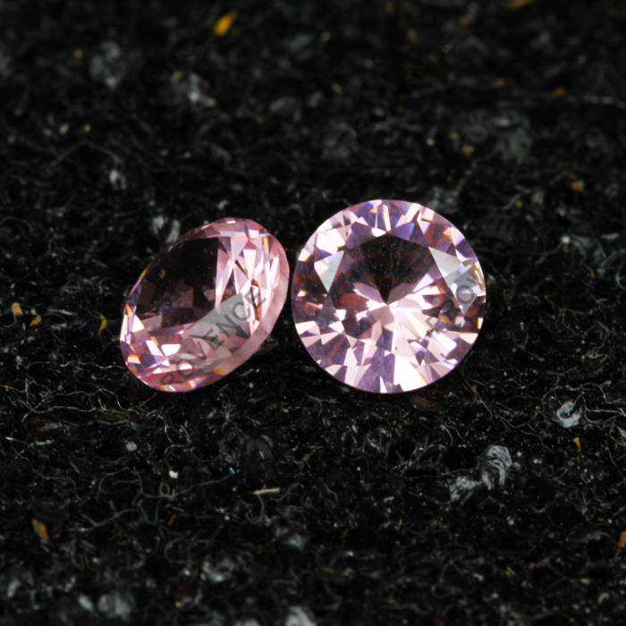 Synthetic Stone Price Round Pink Created Morganite Gemstone Rough