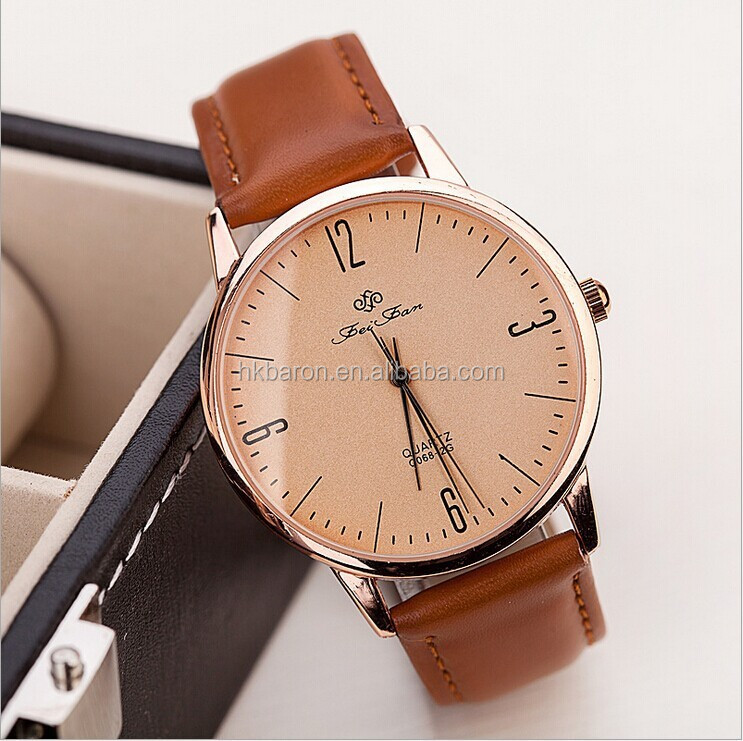 China supplier high quality pu leather strap man watch wholesale relojes