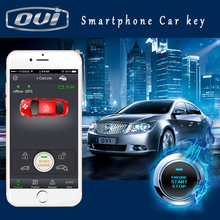 PKE gps gsm car alarm and tracking system one way car security system with car engine start button keyless entry for highlander