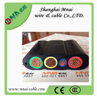 4 core 6mm2 copper conductor electrical flexible flat cable