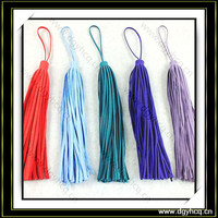 Yuhua durable fashion suede leather fringe tassel for handbag packup bag