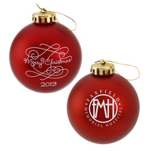 Merry Christmas Promotional Top Quality Logo Holiday Ornament