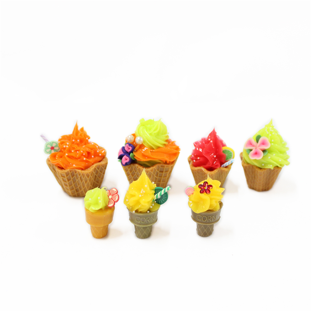 party decorations plastic artificial fake cup cake