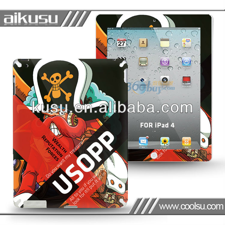 3M front and back skin for ipad 3m stickers