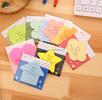 2016 new innovative stationery notebook product Advertising Promotional cartoon leaf shaped sticky notes