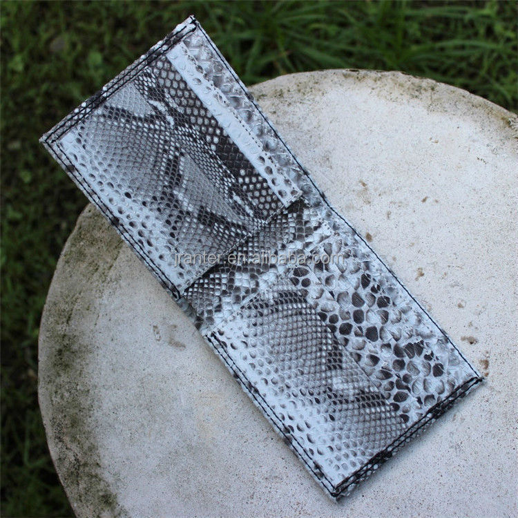 Jranter Custom 100% Python Snakeskin Genuine Leather Money Bag Leather Wallet