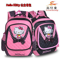 2014 new fashion multicolor series hello kitty Cartoon school bag in backpack China factory