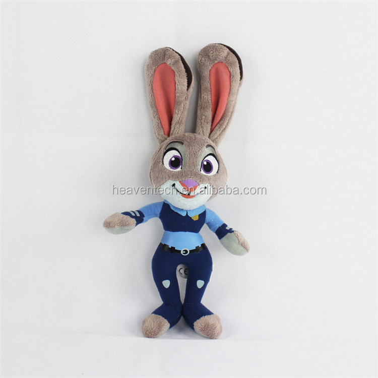 2016 Hot sale Zootopia Nick Wide and Judy Hopps plush toy zootopia rabbit toy