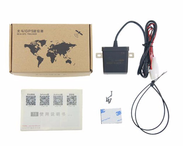 Newest mini GPS tracker waterproof IP67 for car truck boat wide voltage 9V-100V