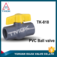 Made In China Plastic Enviroment 1/2 Inch Pvc Ball Valve With Plastic Handle And Ball For Water Meter/Water Flowmeter