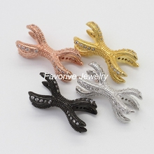 Different kinds of jewelry accessories Brass CZ jewelry beads and findings for boy bracelet jewelry