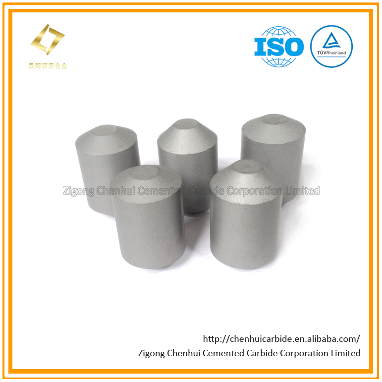 Tungsten CP Type Flat Top Carbide Buttons