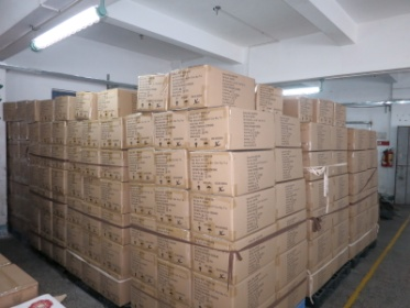 Product packaging into warehouse