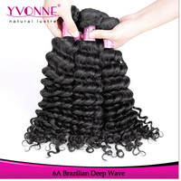 Factory price grade 6a brazilian deep wave real human hair for sale