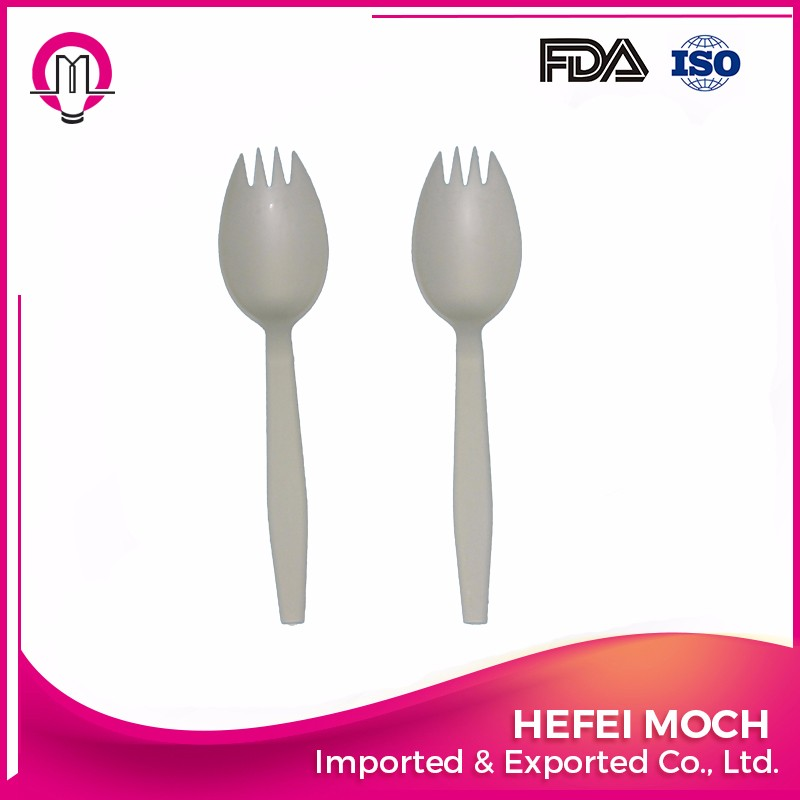 Eco-friendly Dinnerwares Disposable Cornstarch Sporks for Western Restaurant