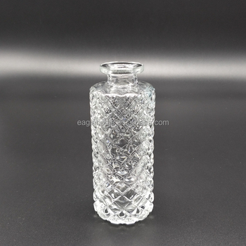 150ml cylinder shape diamond glass aroma reed diffuser bottle