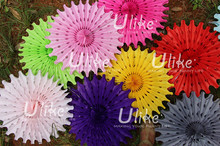 large paper party wedding decorative fan flowers walls paper flower